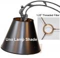 "Black Paper UNO Floor Lamp Shade 12""W"