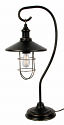 "Black Iron Shepherds Hook Lantern Table Lamp 25""H"