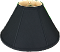 "Black Silk Coolie Lamp Shade 16-24""W"