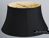 "Black Silk 6 Way Floor Lamp Shade 17-19""W"
