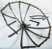 Broken Slag Lamp Shade Frame
