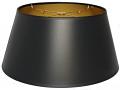 "Bouillotte Black Paper Lamp Shade 14-19""W"