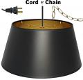 "Bouillotte Black Paper Swag Lamp 10-18""W"