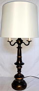 "Bronze Candelabra Lamp 31""H"