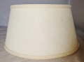 "Ivory Burlap Bouillotte Lamp Shade 15"" W - Sale !"