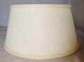 "Ivory Burlap Bouillotte Lamp Shade 15"" W"