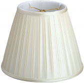 "Empire Box Pleated Lamp Shade Cream, White 8-18""W"