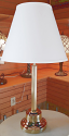 "Wholesale Brass Table Lamp Linen Shade 24-28""H"