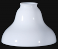 Opal White Glass Bridge Arm Floor Lamp Shade