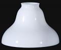 Opal White Glass Bridge Arm Floor Lamp Shade
