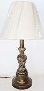 "Bronze & Ash Vintage Lamp 23""H"