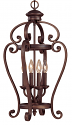 "Oxford Bronze Wrought Iron Foyer Chandelier 15""Wx27""H"