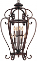 "Oxford Bronze Wrought Iron Foyer Chandelier 23""Wx40""H"