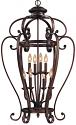 "Oxford Bronze Wrought Iron Foyer Chandelier 23""Wx40""H"