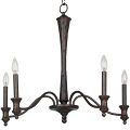 "Lucedale Hand Forged Iron Gothic Medieval Chandelier 5 Lights 25""Wx23""H"