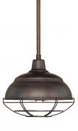 "Neo Industrial Rubbed Bronze Pendant Light 10""Wx48""H"