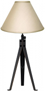 "Bronze Iron Tripod Table Lamp Adjustable 30-38""H - Sale !"