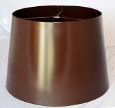 Custom Brown Metal Lamp Shade