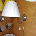 "Brushed Steel Swing Arm Wall Lamp 11""W - Sale !"