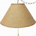 "Burlap Coolie Swag Lamp 16-24""W"