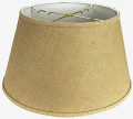 "Burlap 6 Way Floor Lamp Shade 19""W"