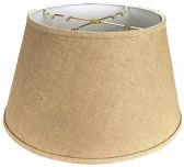 "Burlap 6 Way Floor Lamp Shade 19""W"