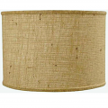 "Shallow Drum Burlap Lamp Shade 15""W - Sale !"