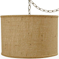 "Burlap Drum Swag Lamp 15""W"