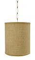 "Burlap Drum Swag Lamp or Pendant Light 10""Wx10""H"
