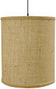 "Small Burlap Drum Swag Lamp 10""Wx10""H"