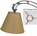 "Burlap UNO Floor Lamp Shade 10-12""W"