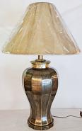 "Burnished Brass Lamp 31""H - Sale !"