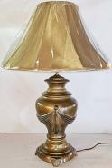 "Burnished Brass Lamp 27""H - Sale !"