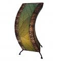 "C Shape Cocoa Leaf Lamp 20""Hx8""W #566-Green"