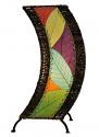 "C Shape Cocoa Leaf Lamp 20""Hx8""W #566-Multi Color"