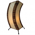 "C Shape Cocoa Leaf Lamp 20""Hx8""W #566-Natural"