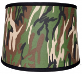 "Camouflage Drum Lamp Shade 15""W - Sale !"