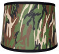 "Camouflage Drum Lamp Shade 15""W"