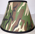 "Camouflage Lamp Shade 16-18""W - Sale !"