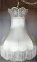 """Victorian Silk Capodimonte Swag Lamp 20""""W"""