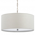 "Casual White Drum Swag Lamp 18""W"