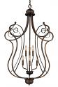"Chateau Dark Bronze Lyre Candlestick Chandelier 30""Wx45""H"