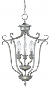 """Fulton Rubbed Silver Candlestick Pendant 13""""Wx20""""H"""