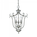 "Fulton Rubbed Silver Candlestick Chandelier 13""Wx20""H"