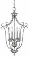 "Fulton Rubbed Silver Candlestick Pendant 16""Wx27""H"