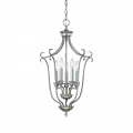 "Fulton Rubbed Silver Candlestick Chandelier 16""Wx27""H"
