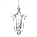 "Fulton Rubbed Silver Candlestick Chandelier 18""Wx34""H"
