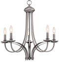 "Austin Brushed Pewter Candlestick Chandelier 24""Wx23""H"