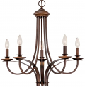 "Austin Brushed Bronze Candlestick Chandelier 24""Wx23""H"