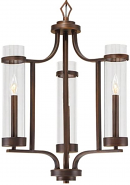 "Milan Rubbed Bronze Candlestick Chandelier 20""Wx26""H"